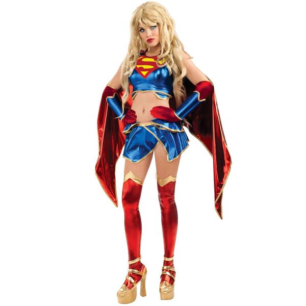 スーパーガール スーパーマン ハロウィン コスプレ DC Comics アメコミヒロイン セクシースーパーガール 大人用コスチューム