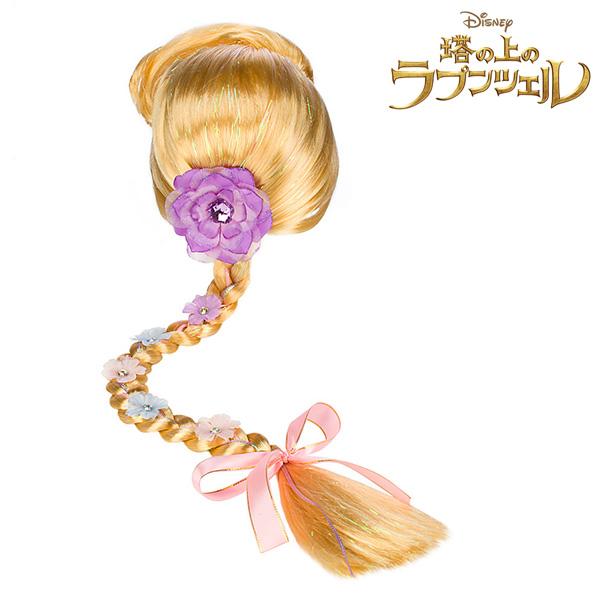 ディズニープリンセス 塔の上のラプンツェル ラプンツェル 三つ編み付きウィッグ かつら ブロンド 金髪 ロングヘア ハロウィン コスプレ グッズ アクセサリー