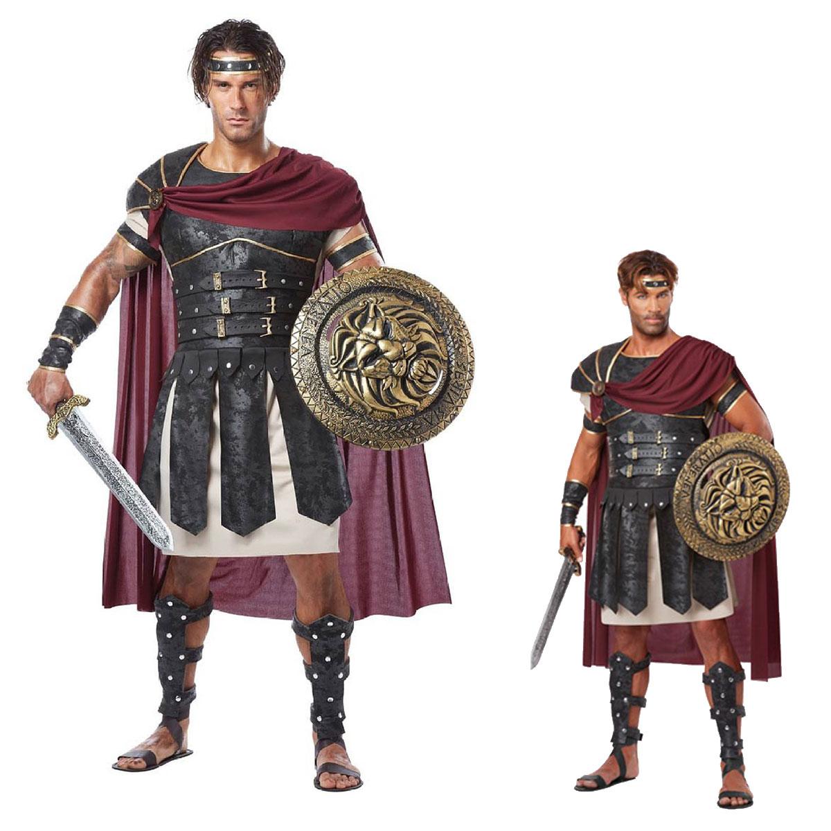中世 コスチューム 衣装 グラディエーター ローマ 戦士 騎士 コスプレ 大人 男性 ワイルド 仮装 ヨーロッパ 歴史 舞台 演劇 服