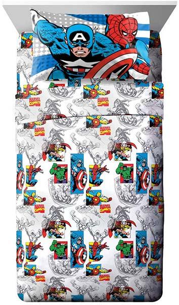 通常便なら送料無料 マーベルコミック シーツ 枕カバー 大好評です 3点 アベンジャーズ 驚きの価格が実現 3点セット シングル ボックスシーツ 通常便は送料無料 スパイダーマン キャプテンアメリカ ソー 寝具 アイアンマン フラットシーツ ハルク 子供