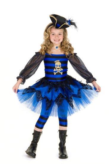 海賊 子供 コスチューム コスプレ パイレーツ 青い パンクな海賊 女の子 ガールズ 子供用 あす楽