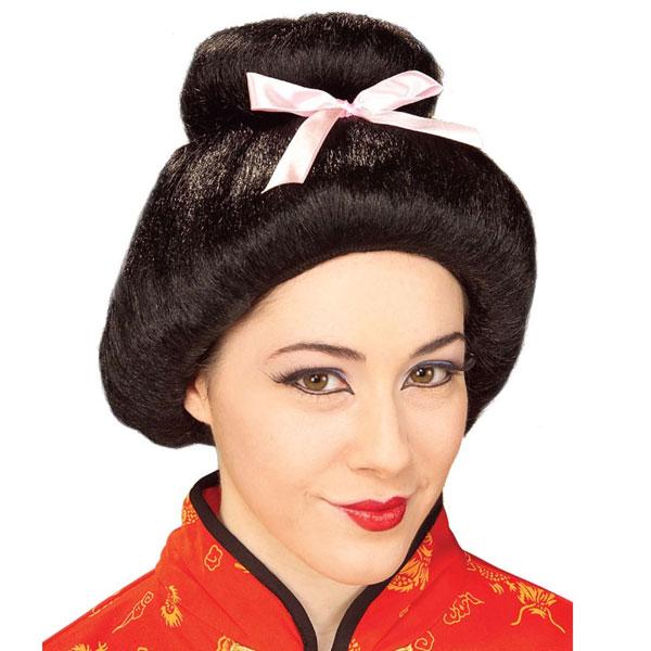 ウィッグ 芸者 日本 黒 女性用 大人用 ハロウィン コスプレ コスチューム 衣装 グッズ