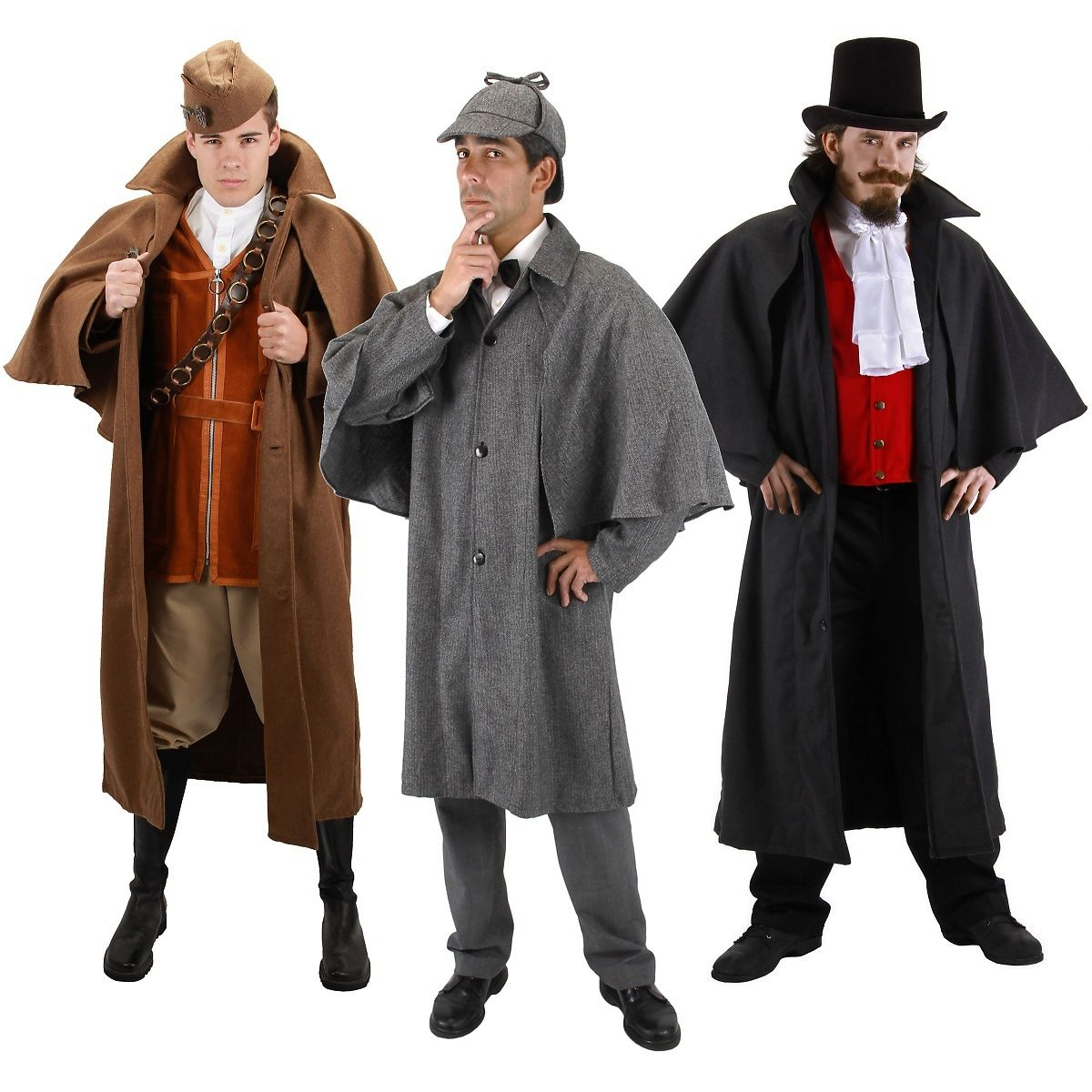 インバネス コート シャーロックホームズ スチームパンク 19世紀 ヨーロッパ ジャケット コスチューム コスプレ 衣装 仮装 大人