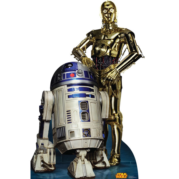 スターウォーズ R2D2 C3PO スタンドアップ スタンダップ 等身大 パネル ポスター 装飾 誕生日 パーティー 写真撮影 コスプレ あす楽