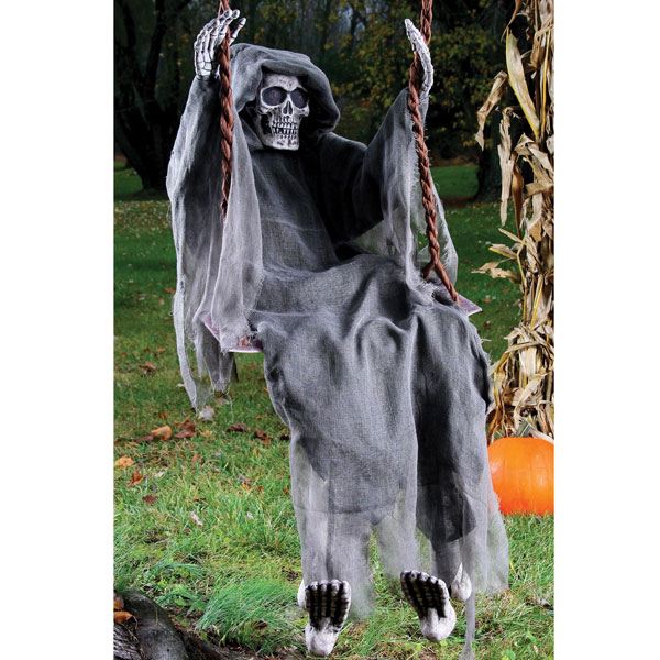 scary halloween decorations reaper swings decoration fear haunted house party