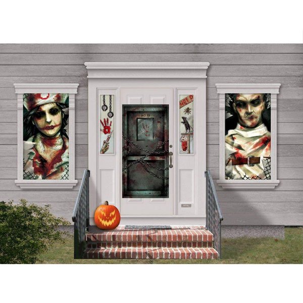 scary halloween decorations crazy horror hospital creepy wall deco kit door decorations