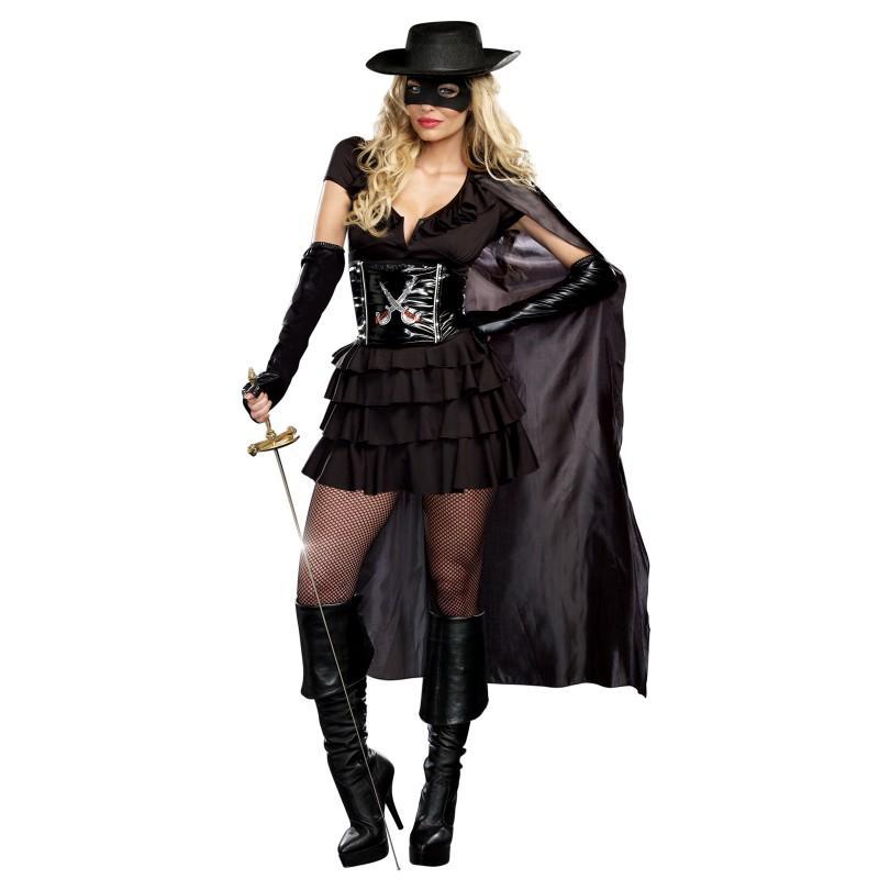 怪傑 ゾロ 大人 女性用 コスチューム ハロウィン 女 騎士 コスプレ パーティー 剣 フェンシング Z