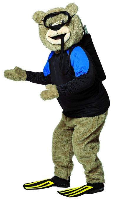 TED テッド 着ぐるみ用 スキューバダイビング 大人 コスチューム コスプレ 衣装 マスコット 動物 くま 映画 キャラクター