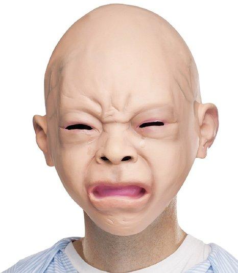 赤ちゃん マスク 大人用 ガキ使 笑ってはいけない 仮装 変装 被り物 リアル赤ちゃん 泣き顔マスク あす楽