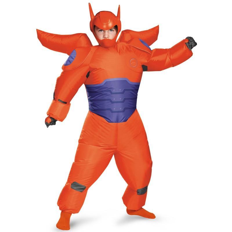 ディズニー コスチューム 子供 ベイマックス コスプレ 仮装 膨らむ赤いベイマックスのジャンプスーツ