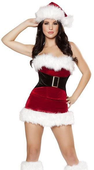 チューブトップ サンタ コスプレ コスチューム レディース セクシー サンタクロース 衣装 コルセット 仮装 大人 女性 クリスマス