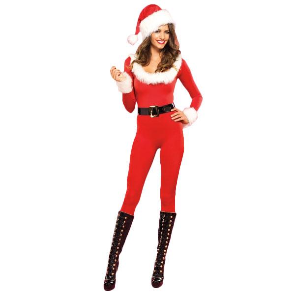 全身タイツ サンタ コスプレ コスチューム レディース セクシー サンタクロース 衣装 仮装 ボディスーツ キャットスーツ 大人 女性