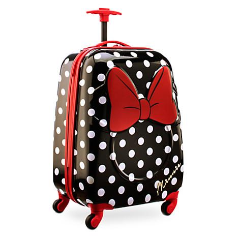 子供 キッズ キャリーケース キャリーバッグ ディズニー ミニーマウス ミニーちゃん 水玉 かばん 鞄 旅行 キャラクター グッズ