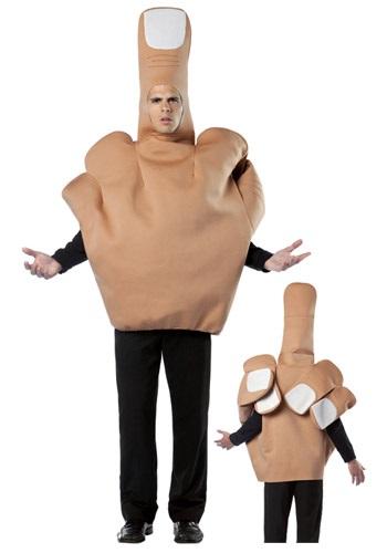 手 中指 おもしろコスプレ おもしろい コスチューム 着ぐるみ 被り物 かぶりもの 大人 ふざけた おふざけ 仮装