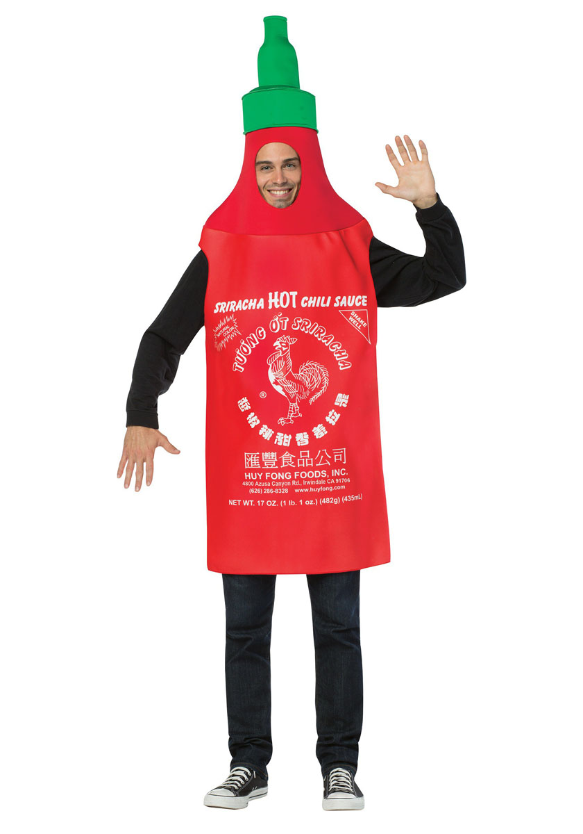 食べ物 コスプレ コスチューム おもしろ おもしろい ホットソース シラチャソース 大人 仮装 着ぐるみ チュニック