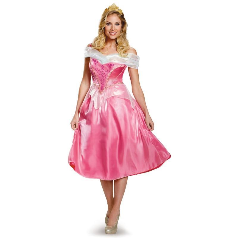 ディズニー プリンセス コスチューム 大人 眠れる森の美女 オーロラ姫 女性用 コスプレ 衣装 レディース ドレス ピンク
