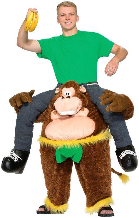 ゴリラ 猿 さる サル チンパンジー 動物 コスチューム コスプレ 着ぐるみ風 大人 おもしろい イリュージョン 肩車