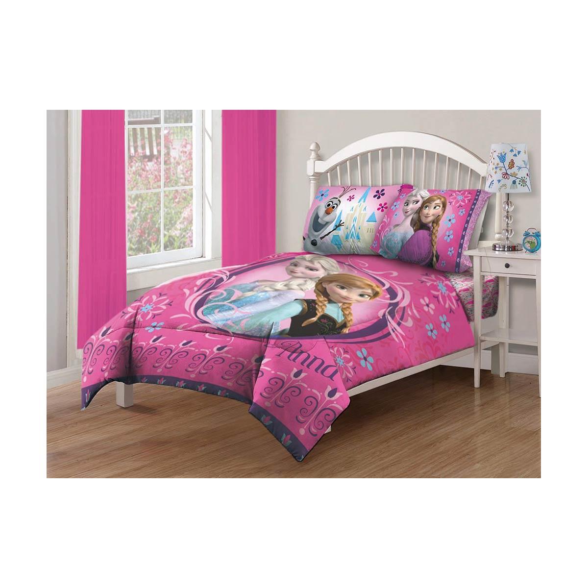 アナと雪の女王 ディズニー 寝具 ベッド グッズ シーツ コンフォーター 布団 セット ツイン フル ノルディックフローラル