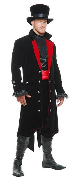 ドラキュラ コスチューム ヴィクトリア朝 コート ベルベット ハロウィン コスプレ 吸血鬼 男性 衣装 仮装