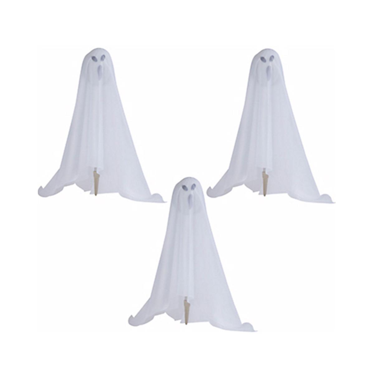 幽霊トリオ3体セット ハロウィン デコレーション お化け 人形 置き物 置物 屋外 お庭 装飾 飾り ゴースト ホラー インテリア