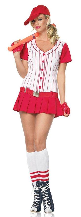 ハロウィン セクシー チアリーダー チアガール 衣装 コスチューム スポーツ 野球 制服 女性 ユニフォーム 赤 コスプレ ストライプ Leg Avenue 観戦 応援 グッズ ミニスカ