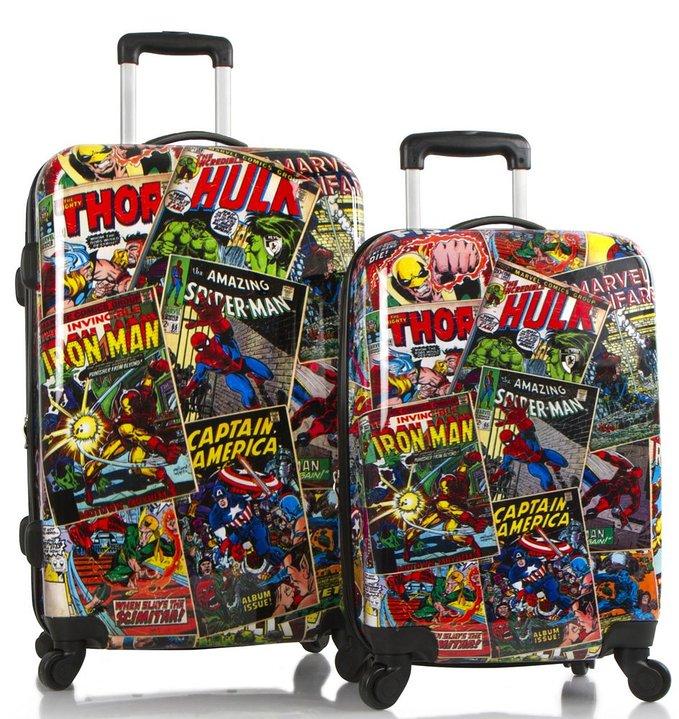 マーベルコミック グッズ スーツケース 2個 セット アニメ アメコミ アメリカンコミック キャリーバッグ キャリーケース 旅行かばん トランク カバン