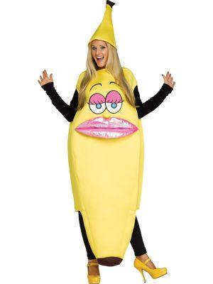 ミス バナナ 大人 女性用 コスチューム ハロウィン コスプレ イベント パーティー 食べ物 果物 フルーツ