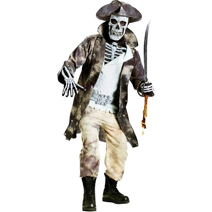 海賊 コスプレ 衣装 コスチューム 骸骨 がい骨 ガイコツ がいこつ スケルトン 大人 ハロウィン ホラー 幽霊 お化け 仮装 パイレーツ