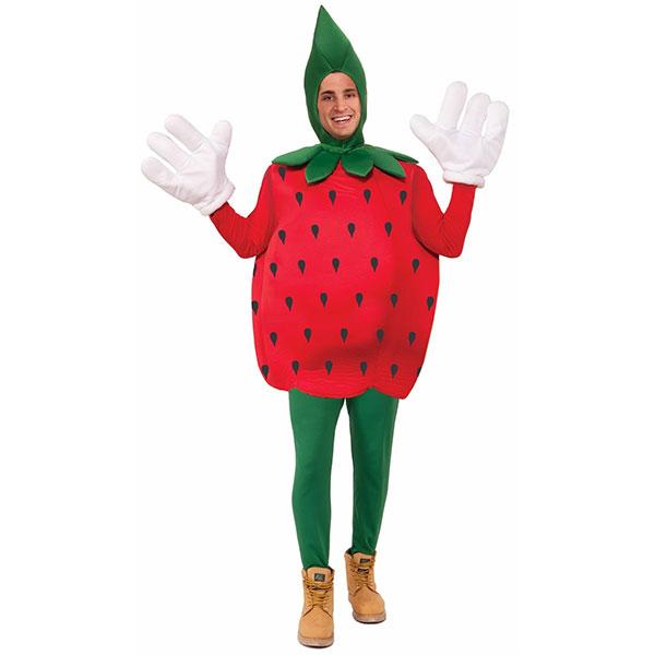 イチゴ 大人用 コスチューム ストロベリー ハロウィン いちご コスプレ くだもの フルーツ イベント パーティー 春 赤 苺 春