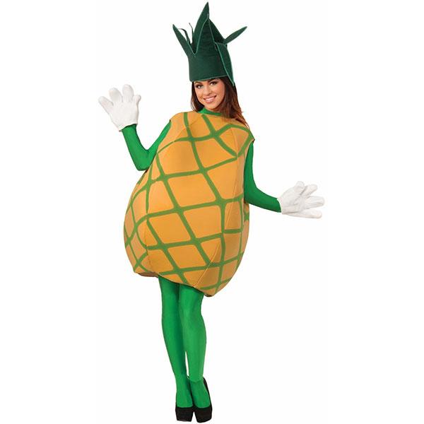 パイナップル 大人用 コスチューム 衣装 ハロウィン トロピカル フルーツ イベント パイン 果物 パーティー 南国 食べ物 面白 コスプレ 仮装