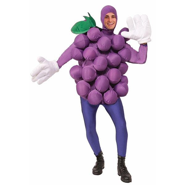 ぶどう 大人用 コスチューム ハロウィン フルーツ ブドウ イベント 果物 パーティー 食べ物 紫 巨峰