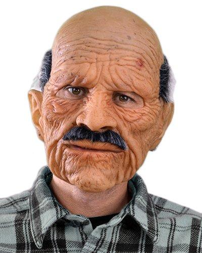 リアル 人面 マスク お年寄り 男性 おじいさん 大人用 かぶりもの 被り物 仮面 魔女 コスプレ 変装 仮装 グッズ