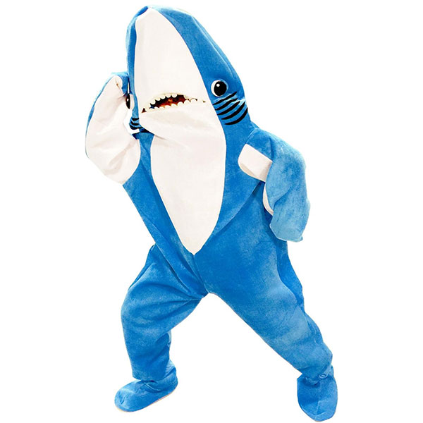 通常便なら送料無料 グダグダ? ケイティ ペリー ご予約品 左側のサメ 大人用 再再販 スーパーボウル コスチューム ハーフタイムショー 着ぐるみ グダグダ ダンス
