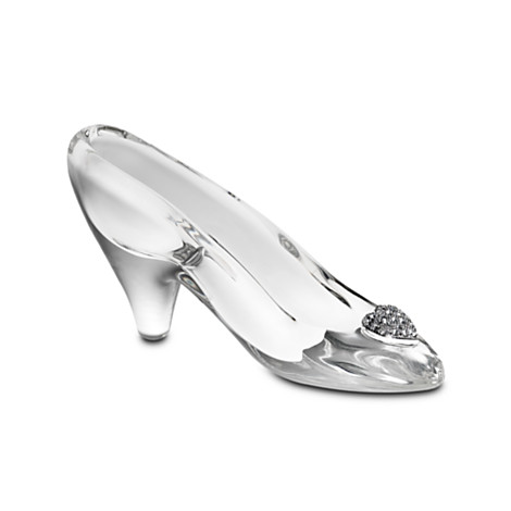 ガラスの靴 小サイズ 名入れ可 オーダーメイド ディズニー シンデレラ 彫刻 模型 インテリア 置物 オブジェ WDW コレクション グッズ ディスプレイ