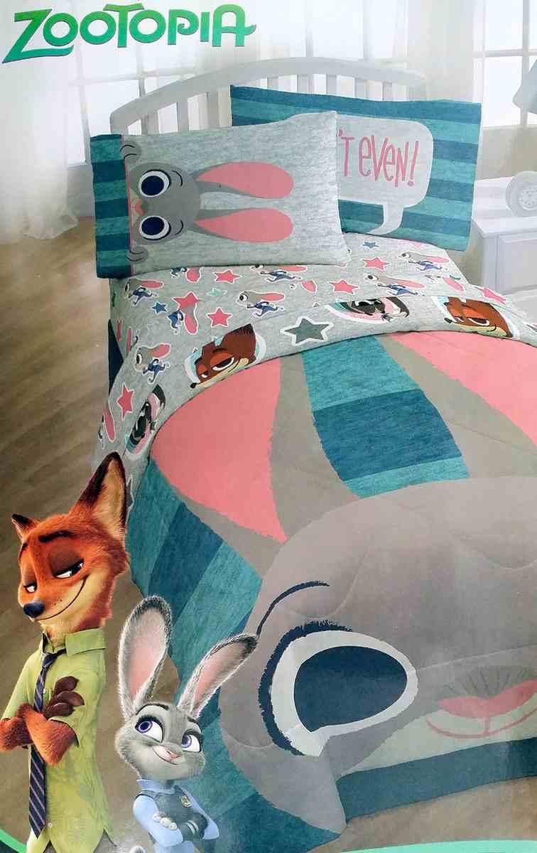ディズニー ズートピア キャラクター 布団 シーツ 枕カバー ツイン サイズ セット 寝具 4点 ジュディ