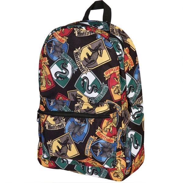 ハリーポッター グッズ リュックサック ホグワーツ 魔法 魔術 学校 寮 紋章 デイパック かばん バッグ ギフトプレゼント