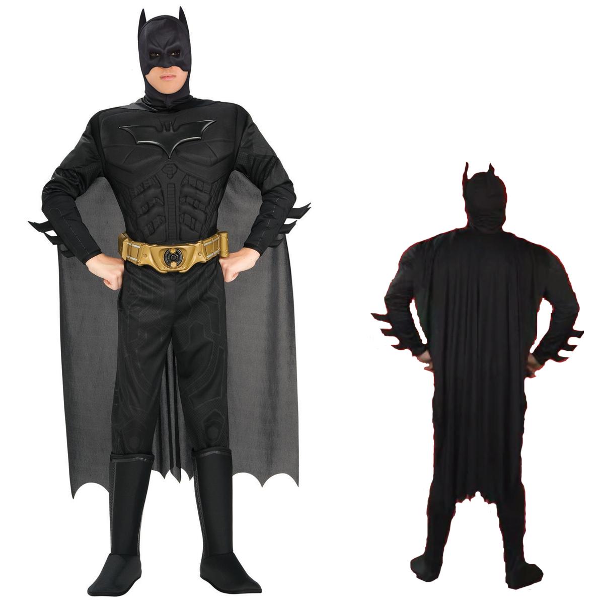 バットマン コスプレ ハロウィン バットマン コスチューム 大人 男性用 コスプレ 衣装 映画 ヒーロー ルービーズ社製 ダークナイト 公式ライセンス スーツ