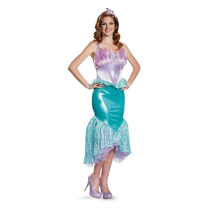 ディズニー プリンセス コスチューム 大人 アリエル コスプレ 衣装 ドレス リトルマーメイド 人魚姫 女性用 レディース 仮装