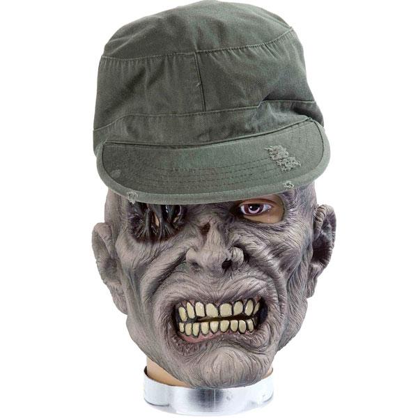 ゾンビ マスク 帽子付 軍曹ゾンビ ホラー ハロウィン 肝試し イベント パーティー