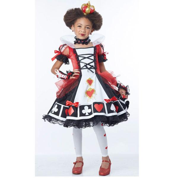 アリスインワンダーランド 時間の旅 赤の女王 ハートの女王 ハートのクイーン コスチューム 女の子用 子供用 鏡の国のアリス ハロウィン コスプレ