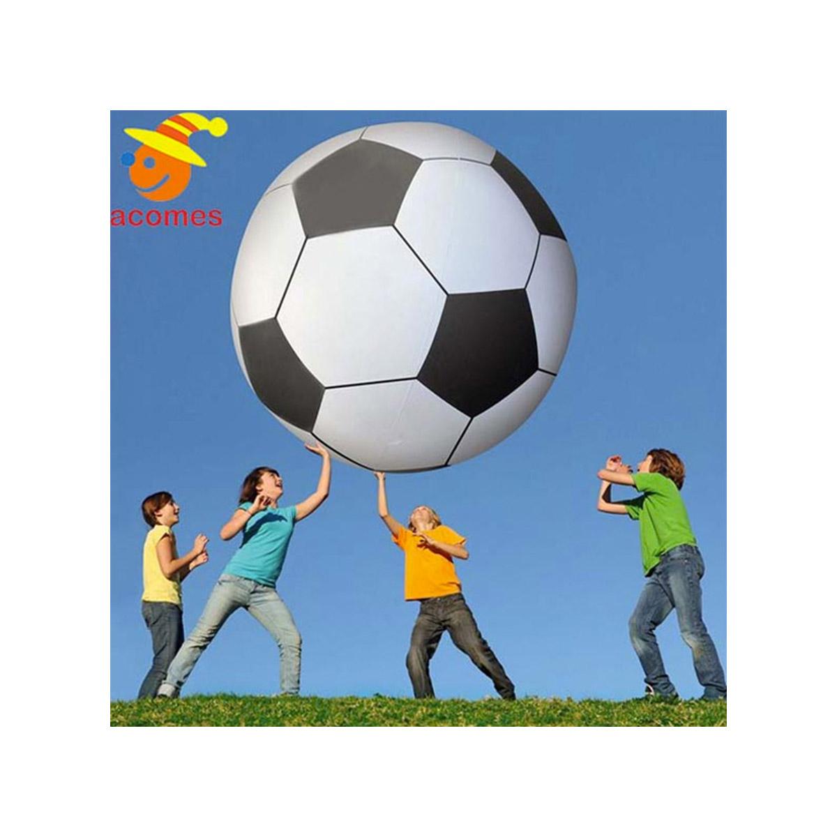 野外 遊び 巨大 サッカーボール柄 ビーチボール 1.8m プール 海水浴 海 水遊び パーティー スポーツ 競技