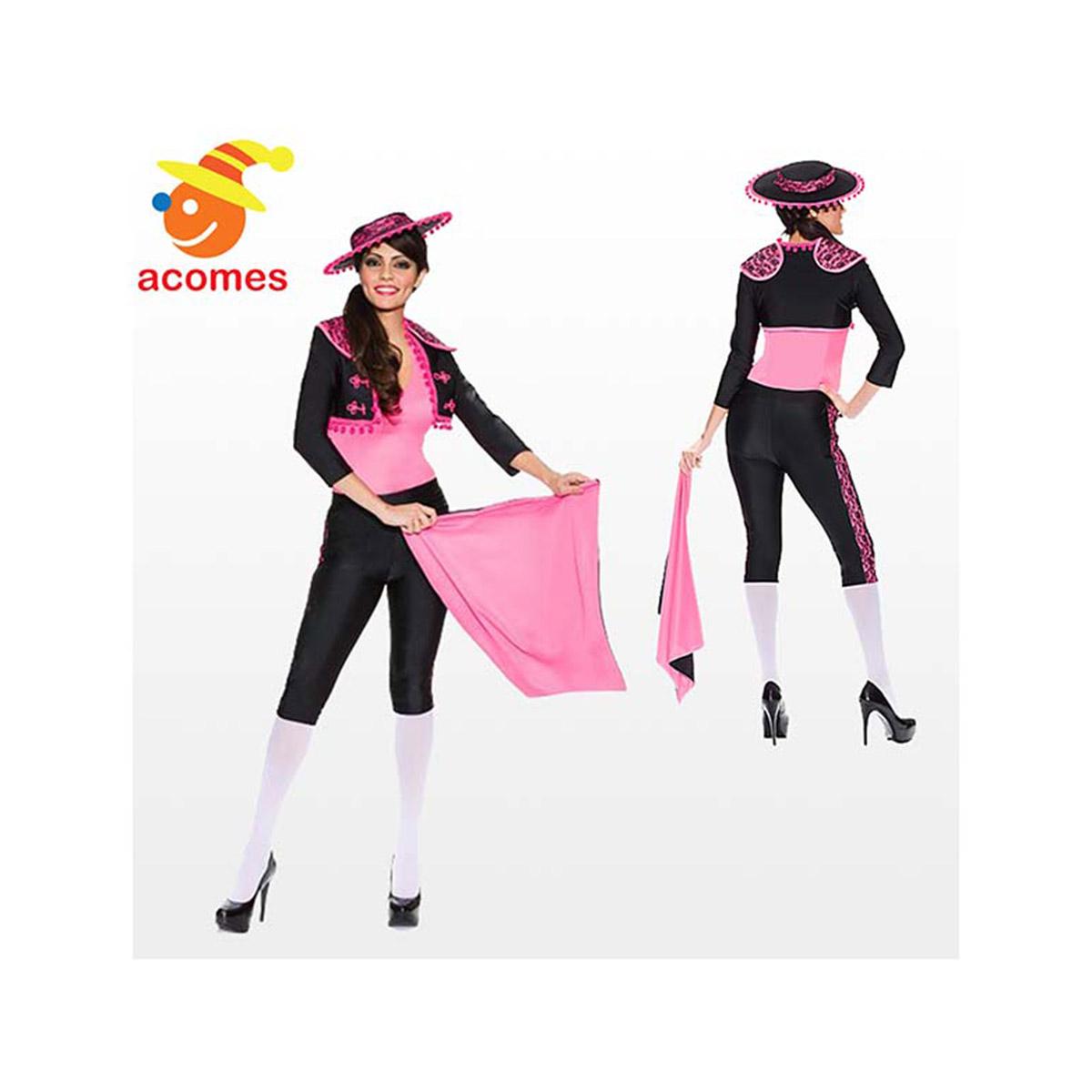 闘牛士 衣装 コスプレ コスチューム 大人 女性用 ピンク マタドール スペイン レディース 仮装 グッズ