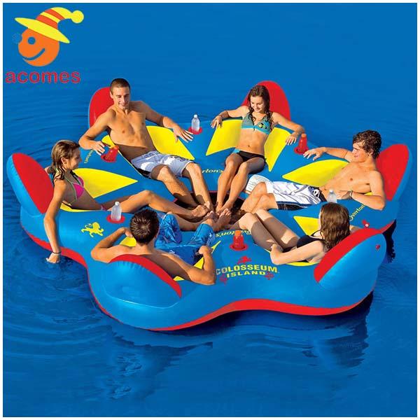 6人用 大型 おもしろい 浮き輪 うきわ 複数 家族 友達 グループ ペア 大きい ボート フロート パーティ グッズ コロッセオアイランド インスタ