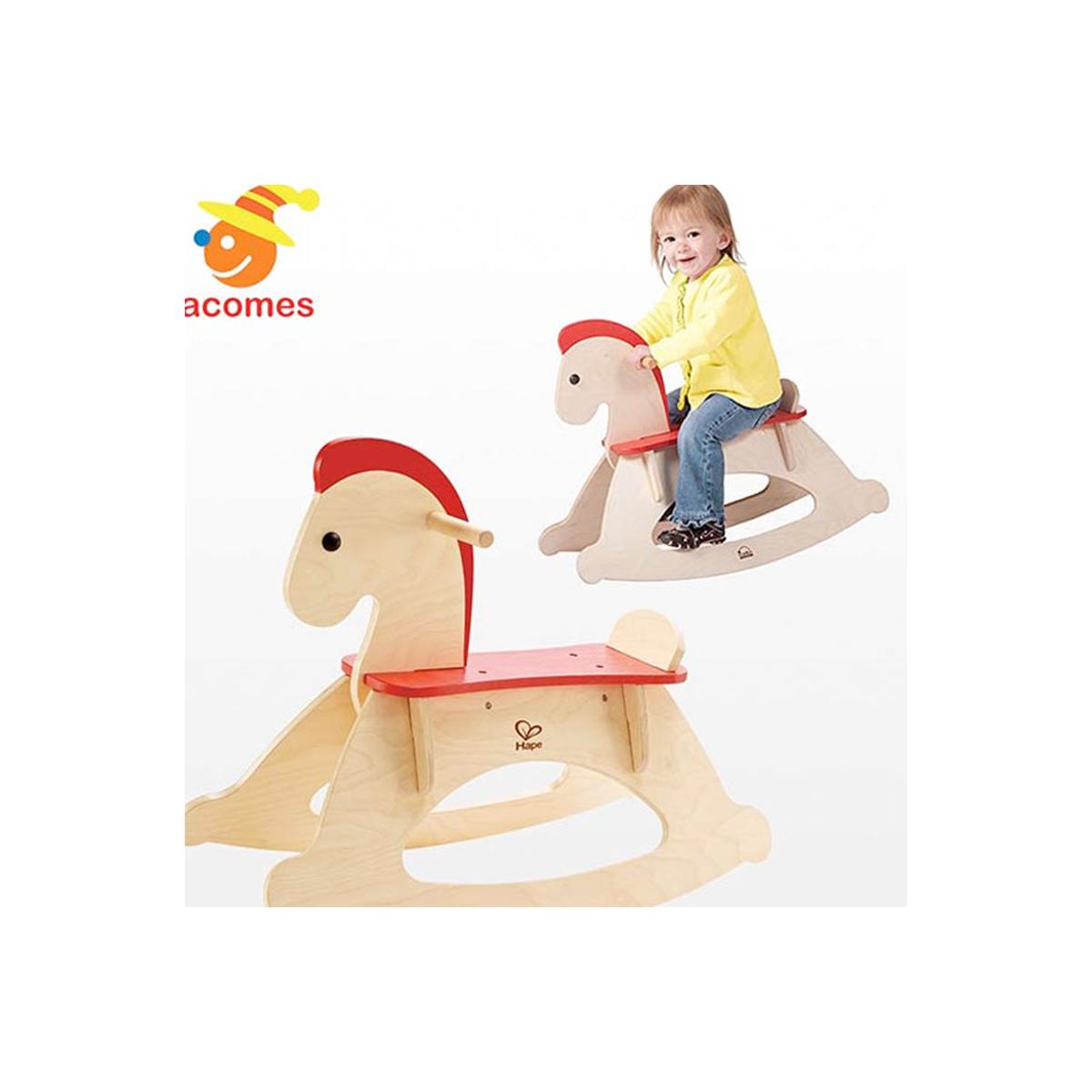 赤ちゃん 木馬 木製のりもの ロッキング 海外 おもちゃ 幼児 10ヶ月~