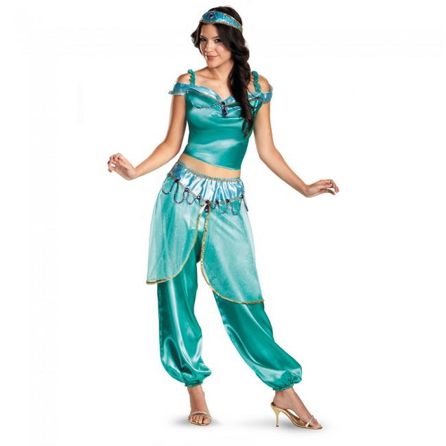 Aladdin cosplay Halloween Jasmine costume costume Jasmine adult costume costume Disney  sc 1 st  Rakuten & acomes | Rakuten Global Market: Aladdin cosplay Halloween Jasmine ...