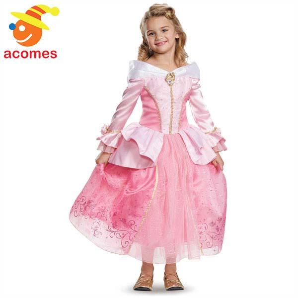96d129780d9a2 ディズニー コスチューム 子供 プリンセス 映画 眠れる森の美女 オーロラ姫 ドレス 幼児用 女の子用