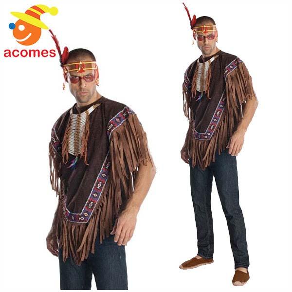 インディアン コスプレ ポンチョ 大人 男性 ハロウィン ネイティブ アメリカン コスチューム イベント パーティー