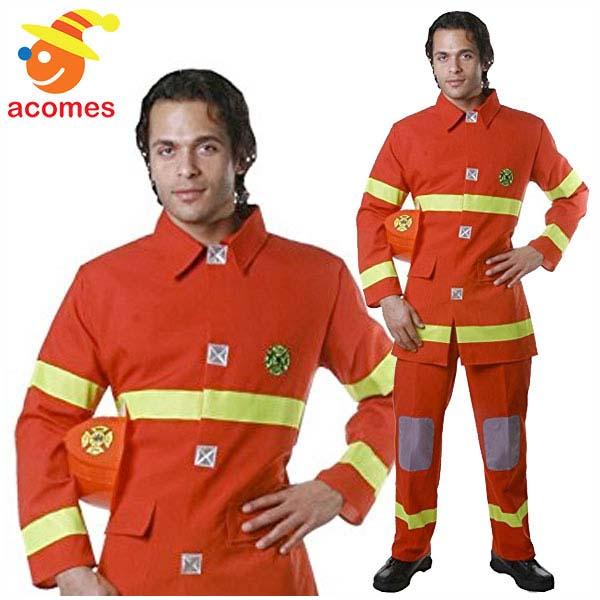 消防士 コスプレ 大人 ハロウィン ファイヤーファイター レッド 衣装 イベント コスチューム パーティー