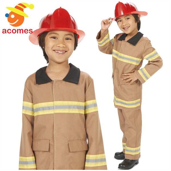 消防士 コスプレ 子供用 ハロウィン 衣装 イベント コスチューム パーティー