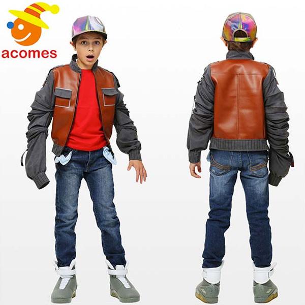 バックトゥザフューチャー コスプレ コスチューム 衣装 マーティン ジャケット 子供 映画 80年代 仮装 グッズ